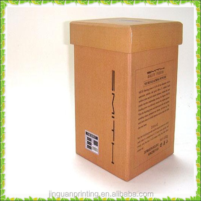 Custom brown kraft carton with lid/two pieces corrugated box