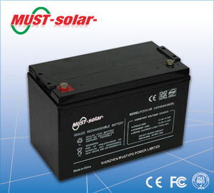 <MUST Solar>Recharge Sealed Lead Acid Deep Cycle Battery 12V 12AH