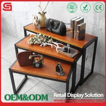 retail clothing store furniture, clothes wooden display rack
