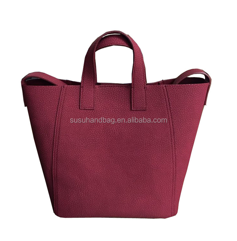 Wine Color PU Leather Girls Shoulder Bag