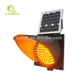 Solar Powered Yellow Flashing Warning Light