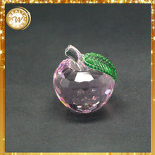 Wholesale Fashionable Apple Shaped Decorative Crystal Items