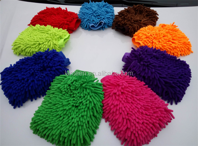 microfiber chenille mops car wash cleaning brush mitt glove 25*17cm 22*15cm