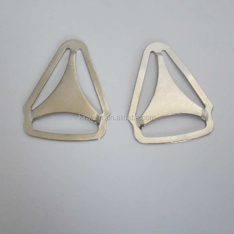 China cheap nickle metal suspender adjuster buckle for sale