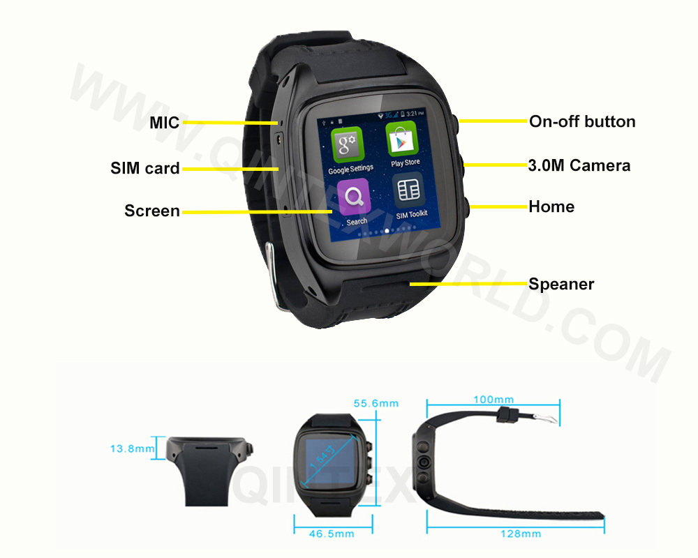 Smart Watch CE ROHS certification Android Smart Watch Mobile Phone WIFI+GPS+SIM+3G SmartWatch IT65 Smart Watch 2015