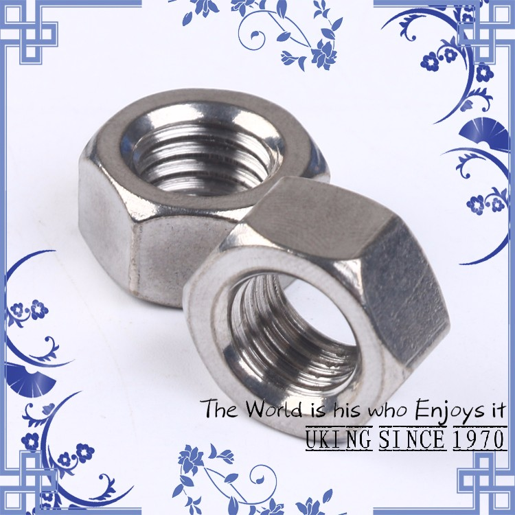 Factory direct-stainless steel 304 DIN934 <strong>M10</strong> <strong>hex</strong> <strong>nut</strong>