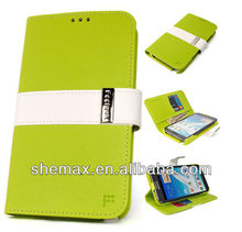 Saffiano LIME Leather Wallet Case Cover Flip Card Pouch for Galaxy Note 2 N7100