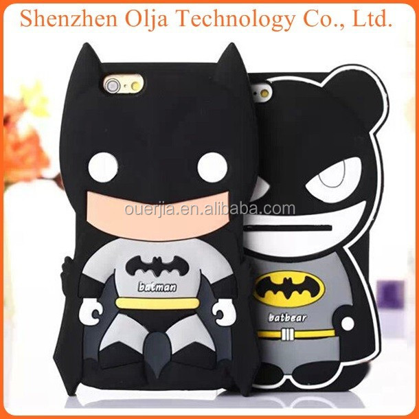 Olja china supplier 3d batman case for iphone 5, funny silicone case for iphone 5