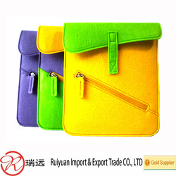 Factory direct selling various color felt laptop bag made in China