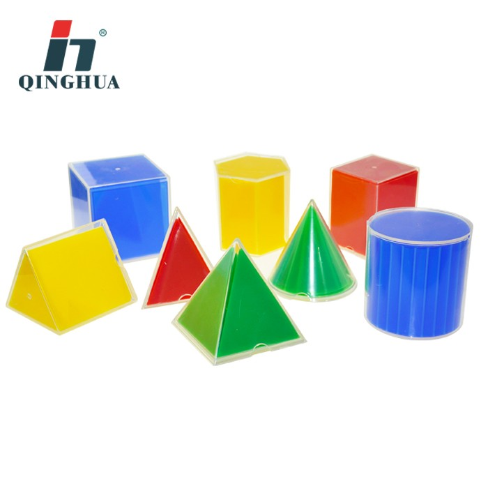 High quality plastic geometric cubes in outspread 8pcs
