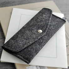 2018 popular recycling felt pen bag wallet