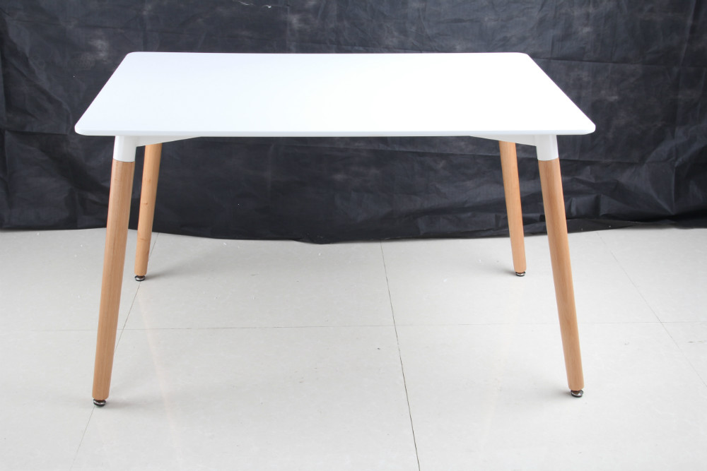 Hot Sale Wood Legs Dining Mdf Top Table