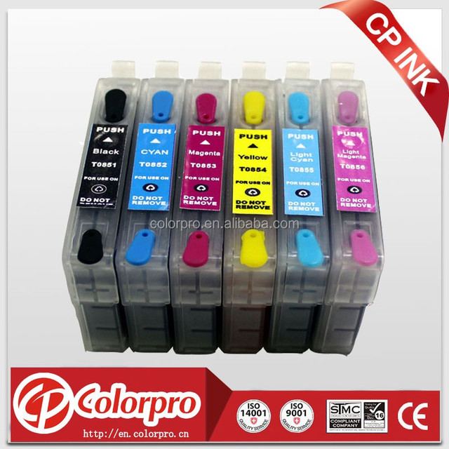 T0851 -T0856 refill ink cartridge with ink compatible for epson Stylus Photo 1390 printer for T0851-T0856