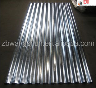 Building material corrugated galvanized metal roofing panels