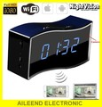 wide view angle 1080p wifi spy clock camera with Motion detection Night vision