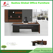 China manufacturer L-shape Annie executive desk manager desk office boss table with MFC desktop & aluminum legs
