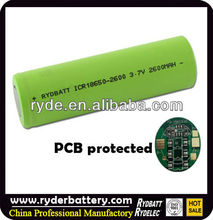 High capacity 18650 rechargeable battery for toys/e-cig, flashlight