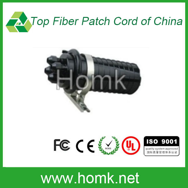 High quality ABS Dome type 2 in 2 out in line fiber optic splice closure <strong>124</strong> core fiber closure