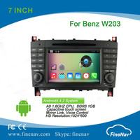 2din 7 inch Android 4.4 1024x600 Car DVD player for Mercedes Benz C class W203(2000-2004) with Radio GPS BT MP3 wifi 3g