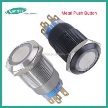 Low voltage 12Volt 24V 19mm led push button switch NO NC