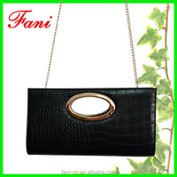 Luxury style crocodile genuine leather single shoulder bag with chain shoulder for women