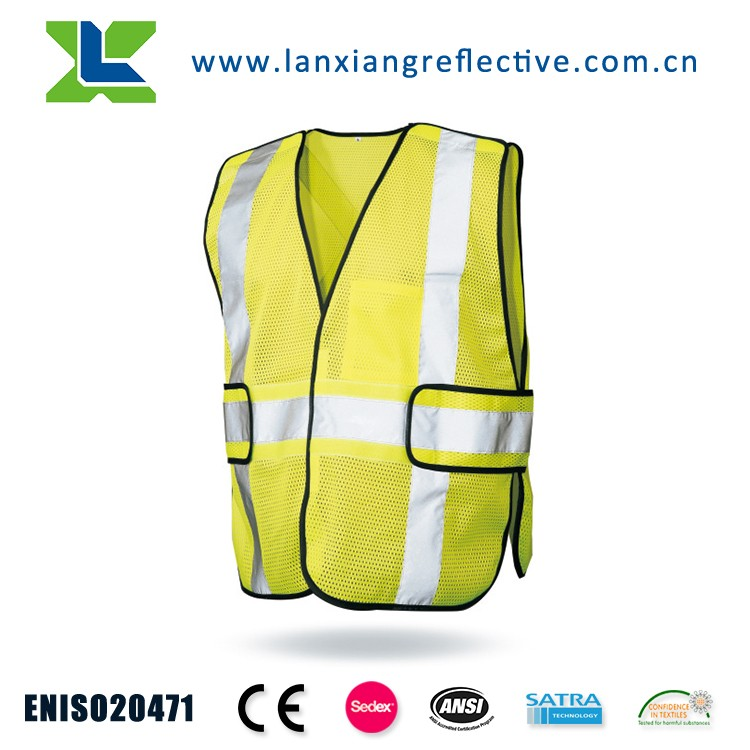 LX625 HOT Selling EN471 Class 2 High Reflective Safety Vests for Women and Man and Reflective Motorcycle Vest