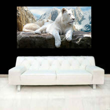 High Quality Wild Life Animal Lion Portrait Oil Painting