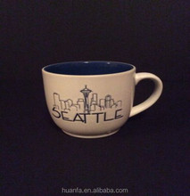 SEATTLE coffee mug tea cup white and blue