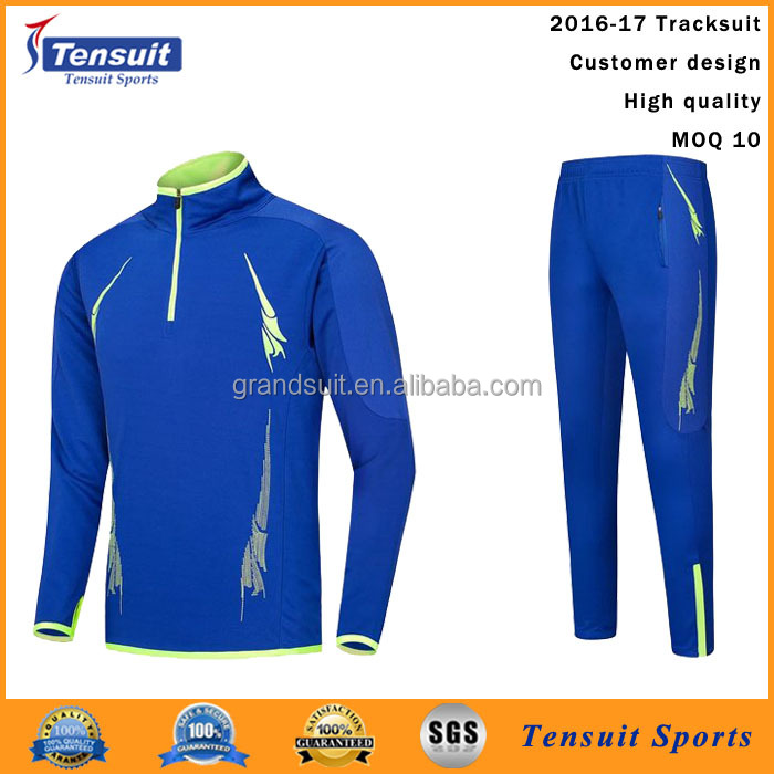 Jersey football grade original soccer tracksuit cheap wholesale design customer blank tracksuit kit