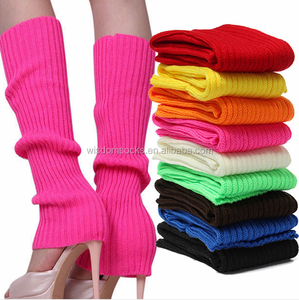 knit 100%acrylic Juniors Eighty winter dance fashion Women leg warmers