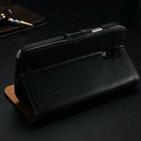 back cover leather case for galaxy s4 mini