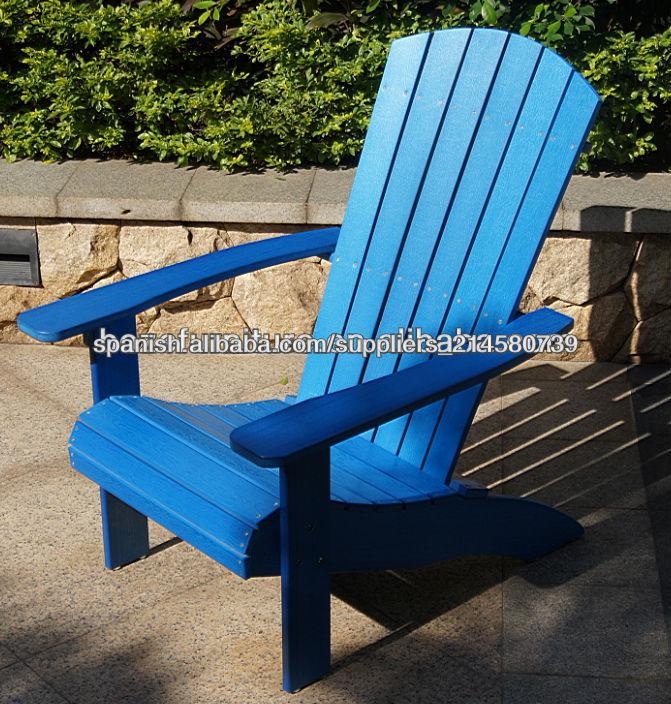Silla de madera estilo adirondack muebles de jard n - Muebles de jardin madera ...