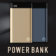 High Capacity Dual Output Interface Li-polymer Battery Slim 10000mah Power Bank