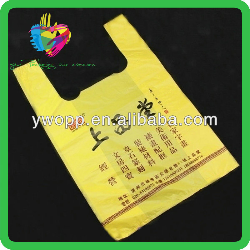 YiWu hdpe t-shirt bag with tea