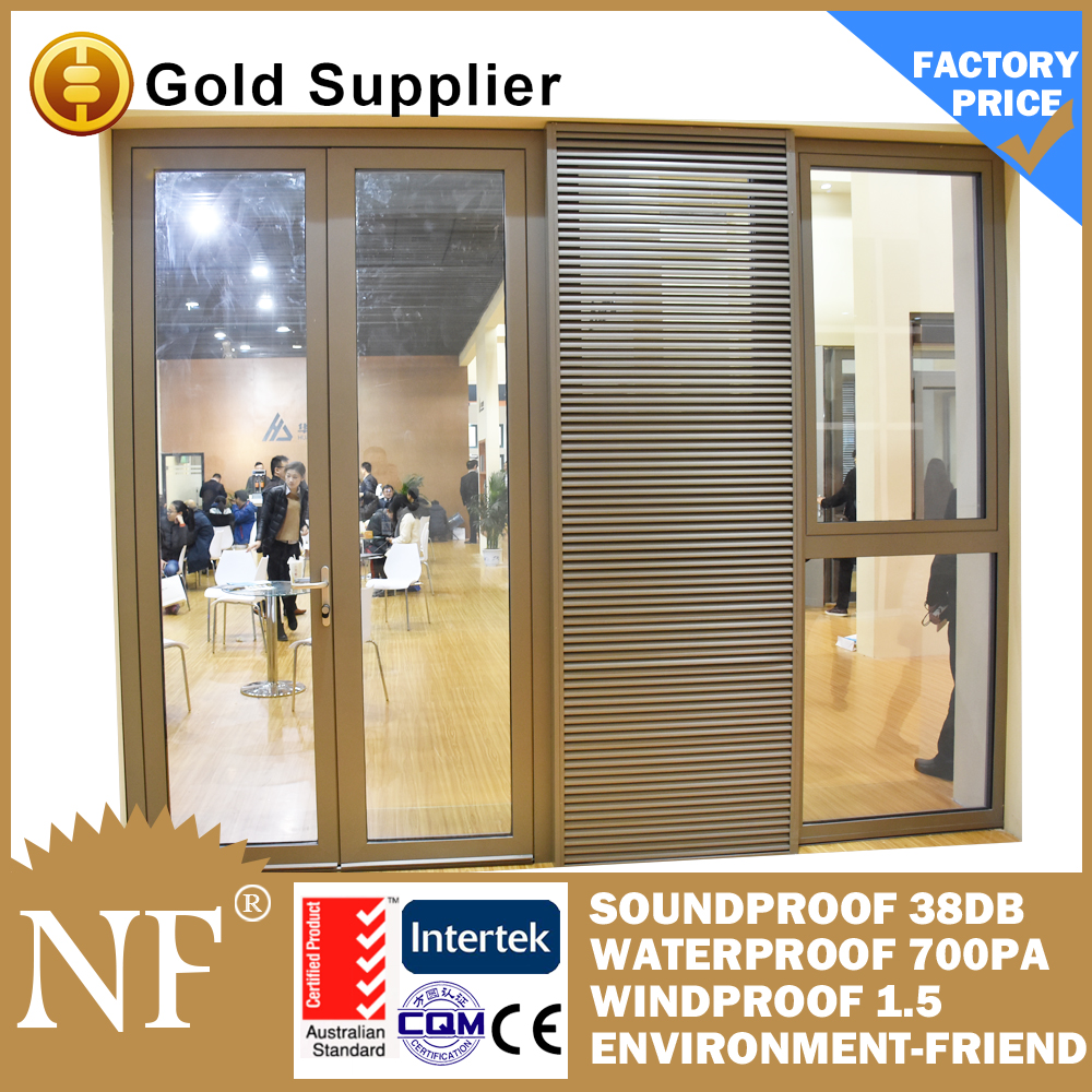 fixed aluminium blind sliding louvered doors