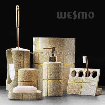 Golden bathroom accessory buy golden bathroom accessory for Bathroom accessories hs code