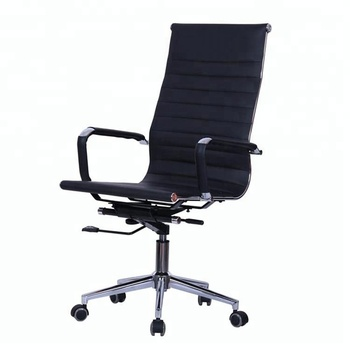906A# High back PU leather good quality swivel reinforced office chairs