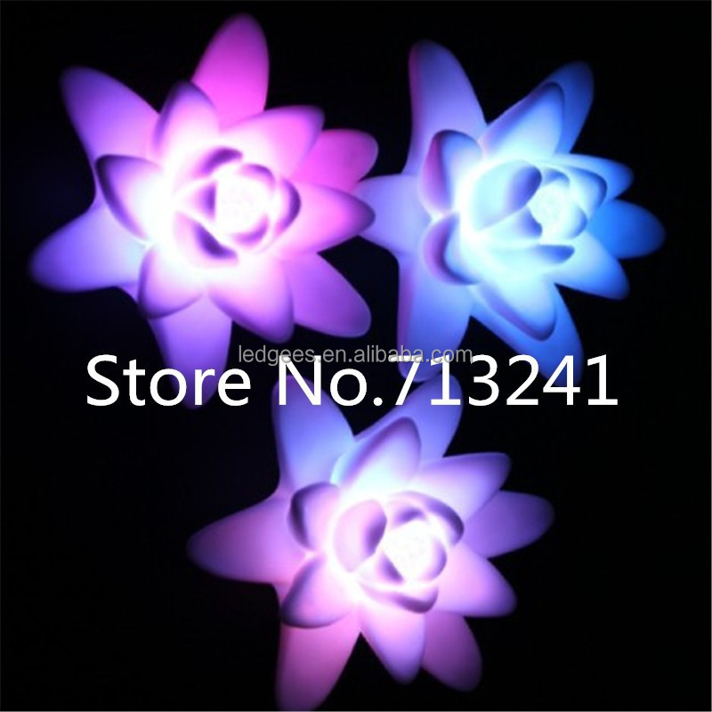 Middle Size 71*71*41mm Waterproof Induction Color Changing Christmas Led Flower Tree Light Blossom Lights
