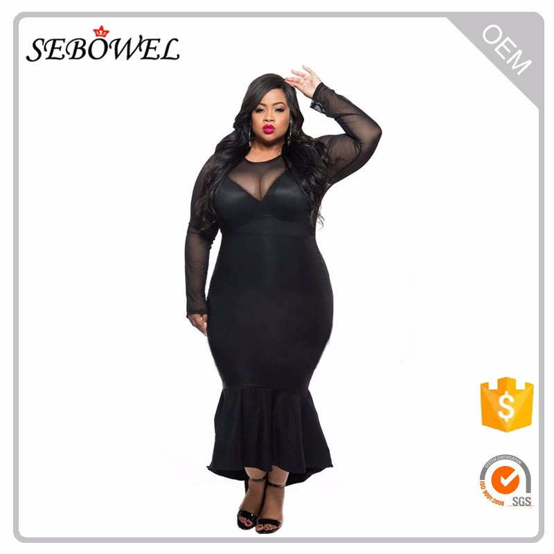 Plus size women clothing evening dresses for fat ladies