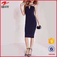 Wholesale Double Strap Cross Over Detail Bodycon Dress Night Dress For Women