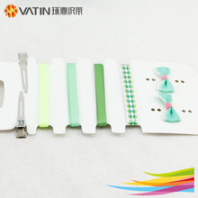 DIY handmade ribbon bow kids hair accessories wholesale