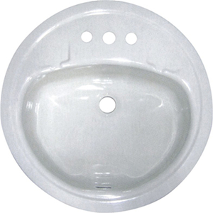 SW-4011 porcelain enamel cast iron single bowl white sink round