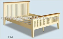 WHITE PAINTED PINE 5' KING SIZE BED