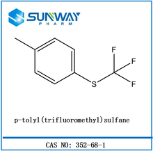 Custom synthesis p-tolyl(trifluoromethyl)sulfane 352-68-1