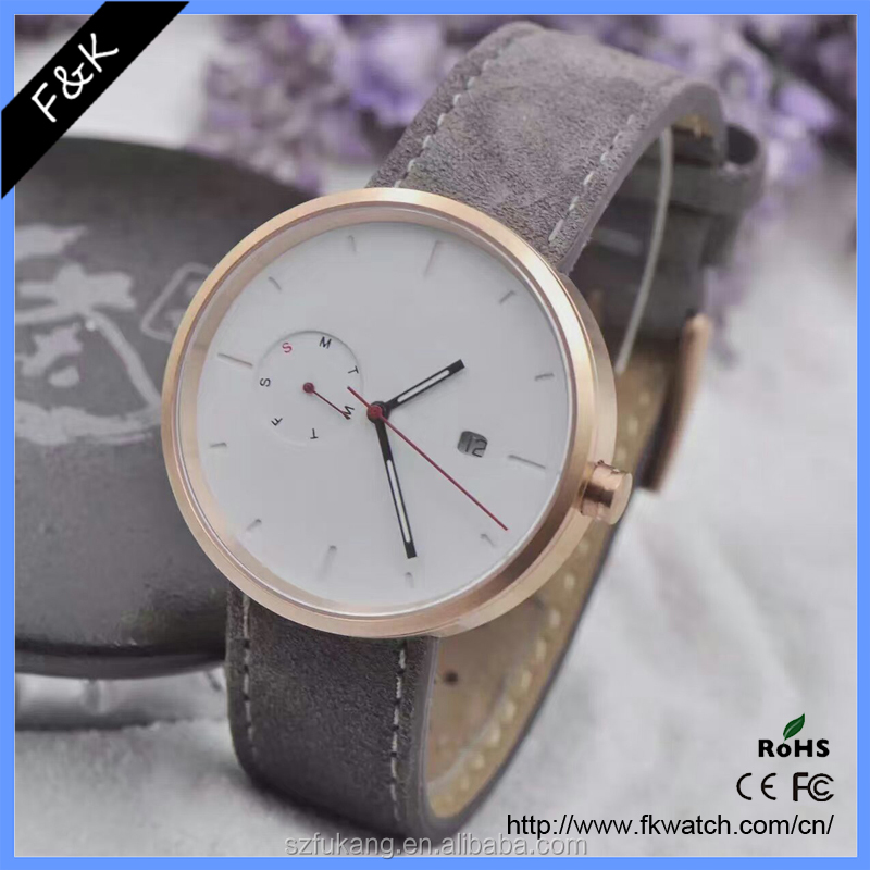 Customize Logo Stainless stell watch Metal Clock For Promotional