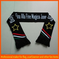 custom polyester knitted sports scarf from china