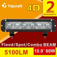4X4 accessories led truck light 12v 24v led light auto parts 60w 11 inch single row led light bar