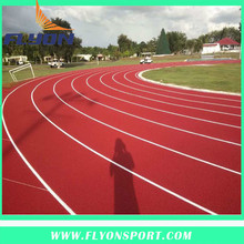 Stadium roof rubber athletic track material Sport stadium flooring Plastic stadium material