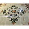 Natural onyx stone inlay flower waterjet marble tiles design floor pattern