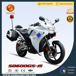 International 5 Gears Engine Racing Motorcycle Powerful 600CC for Police SD600GS-15